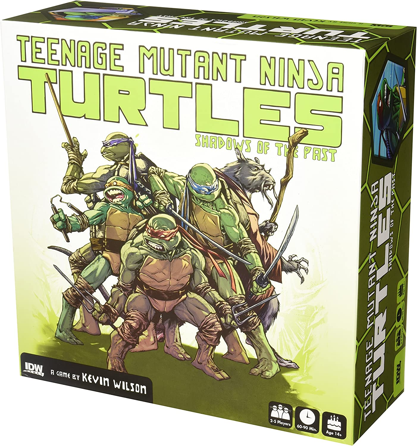 Amazon Com Idw Games Teenage Mutant Ninja Turtles Shadows Of The Past Board Game Toys Games
