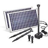 Solar Teichpumpe 50 Watt Solarmodul 1750 l/h Förderleistung 3,0 m Förderhöhe esotec Professional Produktserie Komplettset Springbrunnen Gartenteich, 101916