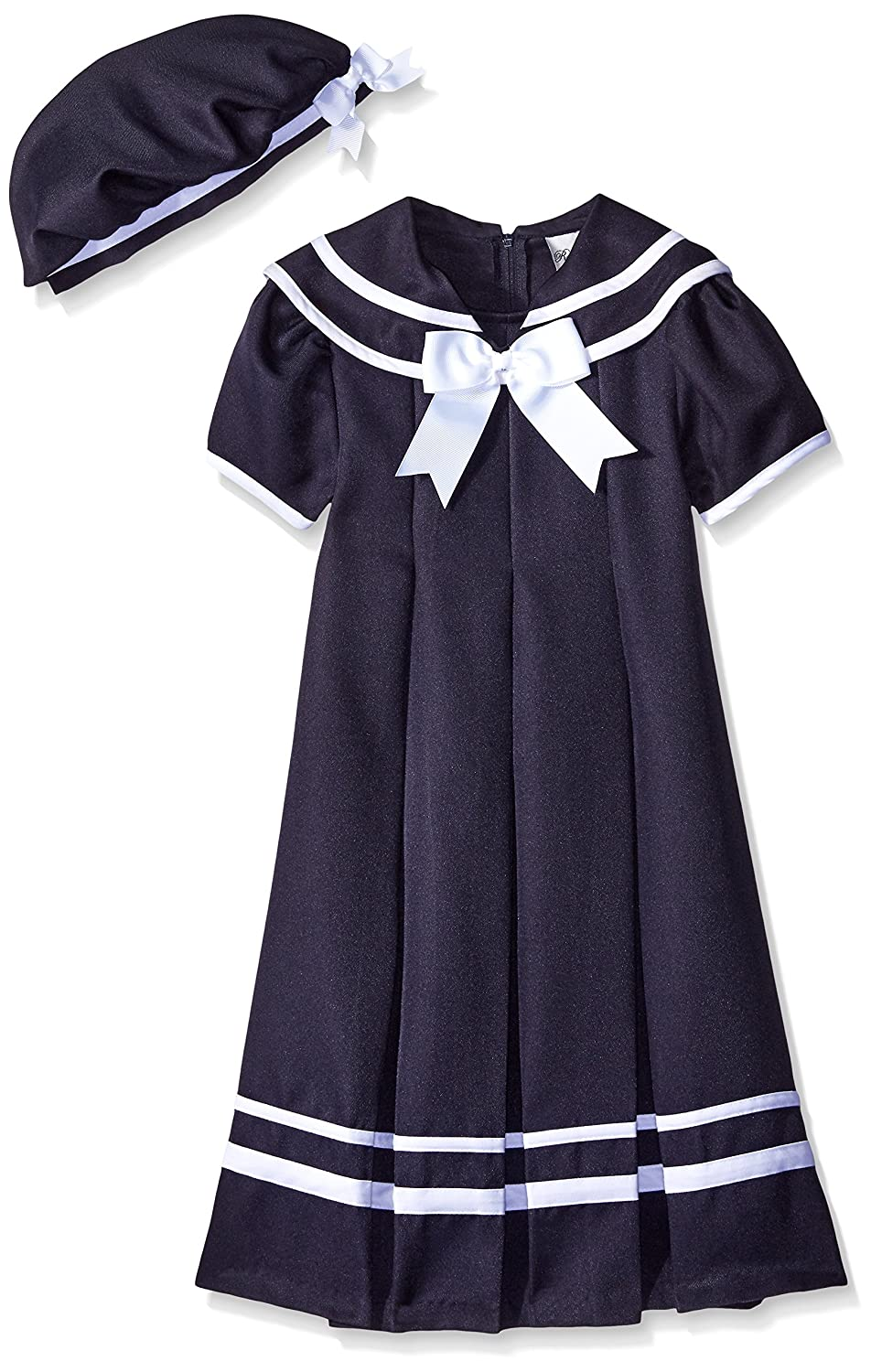 Vintage Style Children's Clothing: Girls, Boys, Baby, Toddler Rare Editions Big Girls Navy Nautical Dress $29.99 AT vintagedancer.com