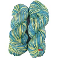 Oswal Knitting Yarn Wool, Multi Green 200 gm Woolen Crochet Yarn Thread. Best Used with Knitting Needles, Crochet Needles. Vardhman Wool Yarn for Knitting. Best Woolen Thread.