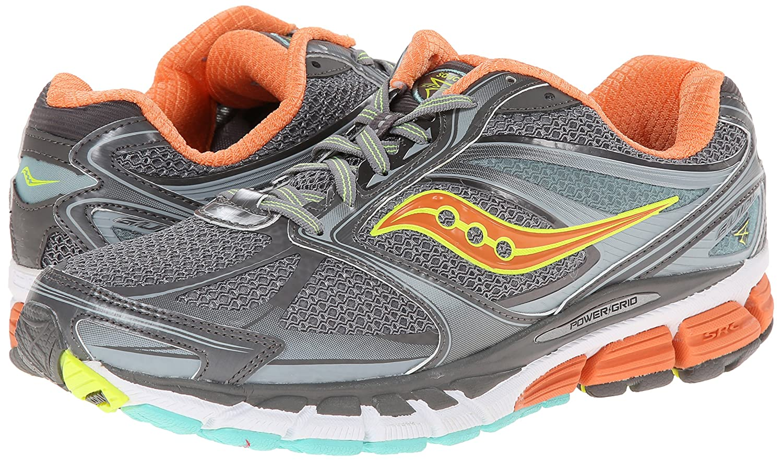 Running Shoe, Grey/Sunset/Citron