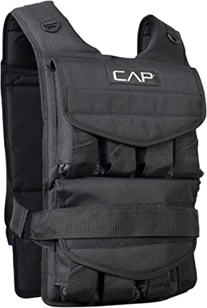 side facing cap barbell adjustable weighted vest