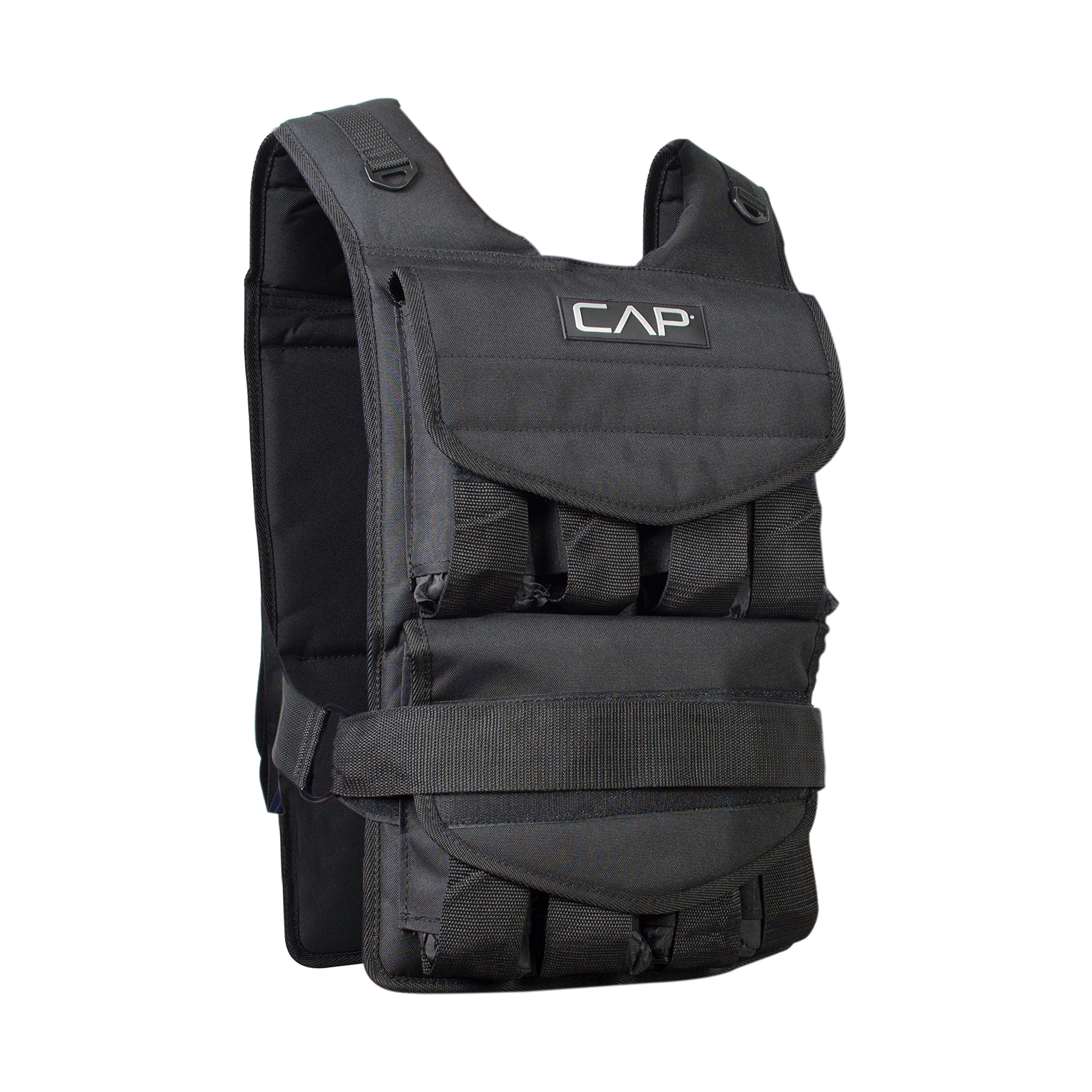 CAP Barbell Adjustable Weighted Vest, 70 lb by CAP Barbell