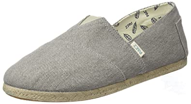 Paez Herren Original-Essentials Grey Espadrilles Grau
