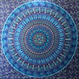 Camel Elephant Tapestry hippie tapestry mandala tapestry wall hanging wall decor home decor (Turquoise) by Craftozone