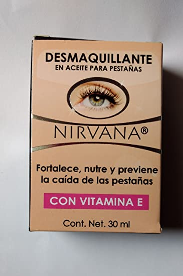 Nirvana DESMAQUILLANTE lash oil treatment and makeup remover with Vitamin E