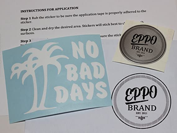 No Bad Days With Palm Trees Vinyl Stickerdecal T