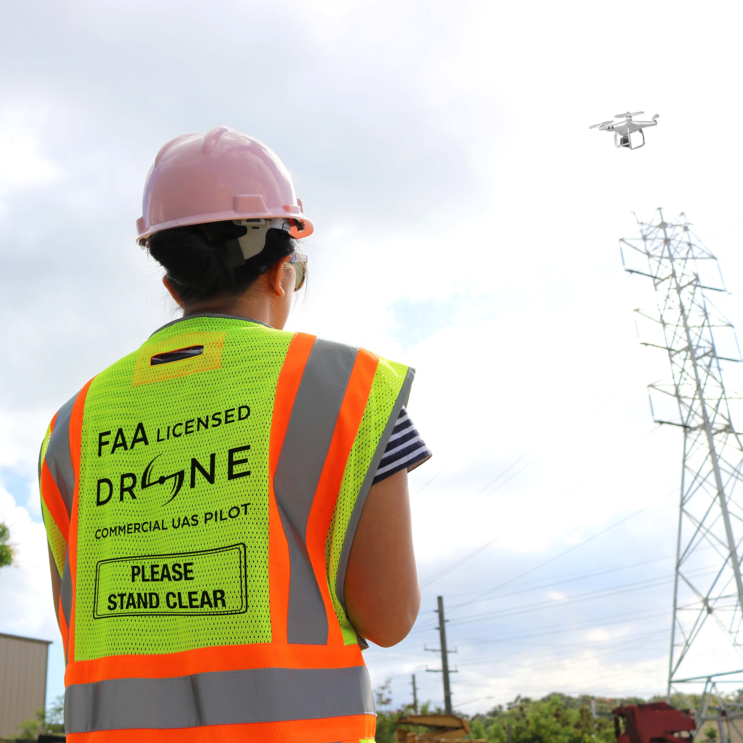 KwikSafety PILOT | Drone Safety Vest | Class 2 ANSI Compliant FAA Licensed | 360° High Visibility Reflective UAG Work Wear | Hi Vis Certified Commercial Pilot Men & Women Regular to Oversized | XL by KwikSafety (Image #6)