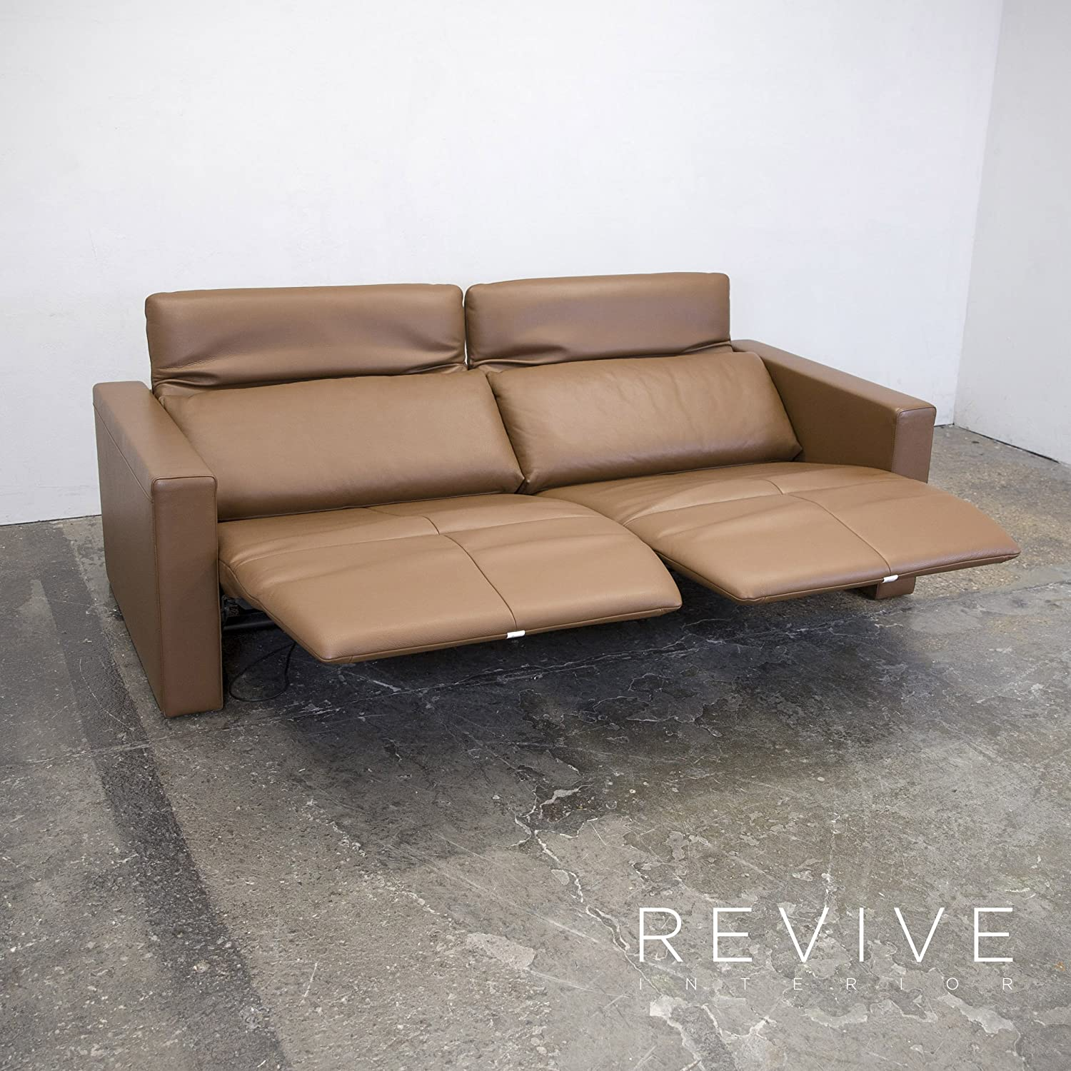Bezaubernd Couch Relaxfunktion Beste Wahl Conceptreview: Fsm Moto Leder Sofa S Braun