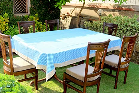 fd4b3b26d Buy Home Fashion Light Blue Colour Dining table cover for 6 seaters with  size (60 x 90 inches) Online at Low Prices in India - Amazon.in