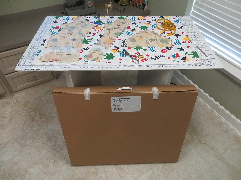 Rattan Sofa Garden Furniture, Amazon Com That Table Portable Counter Height Cardboard Fabric Cutting Board Multi Purpose Table 55 L X 32 W