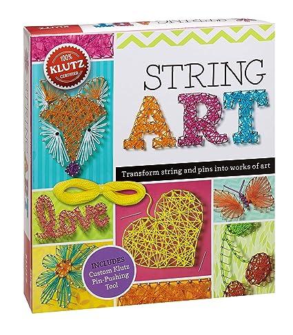 Amazon Com Klutz String Art Book Kit The Editors Of Klutz Toys