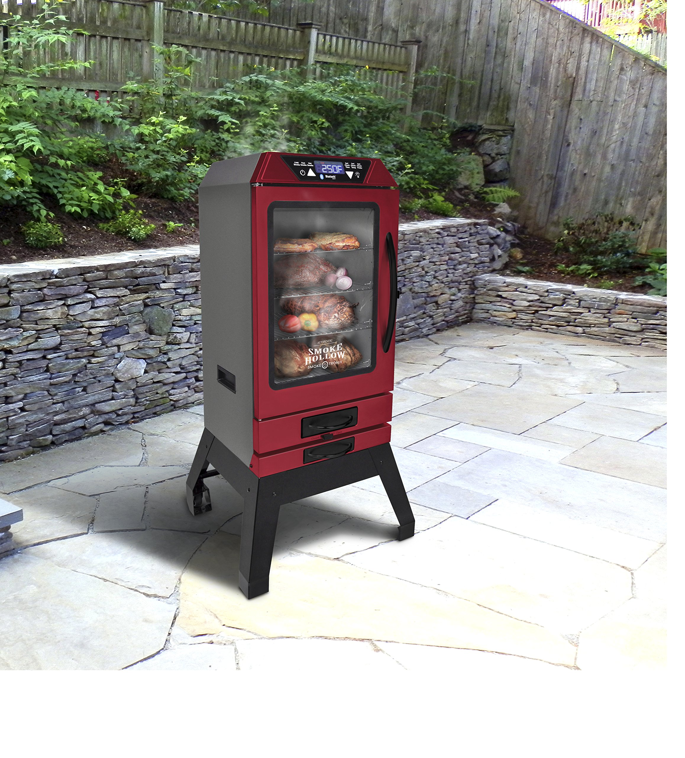 Smoke Hollow D4015RS  40-Inch  Digital Electric Smoker with Smoke-Tronix Bluetooth Technology, Stand Included, Red by Smoke Hollow (Image #7)
