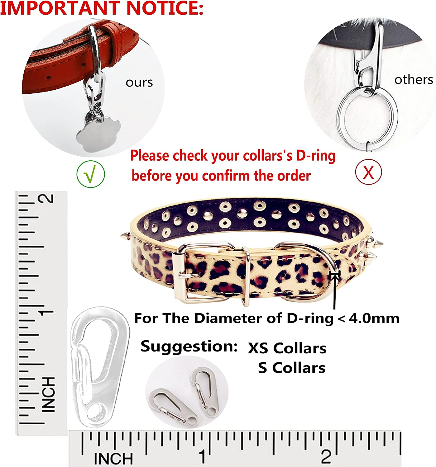 Sundesign Stainless Steel Dog Tag Quick Clips Perfect for Dogs and Cats
