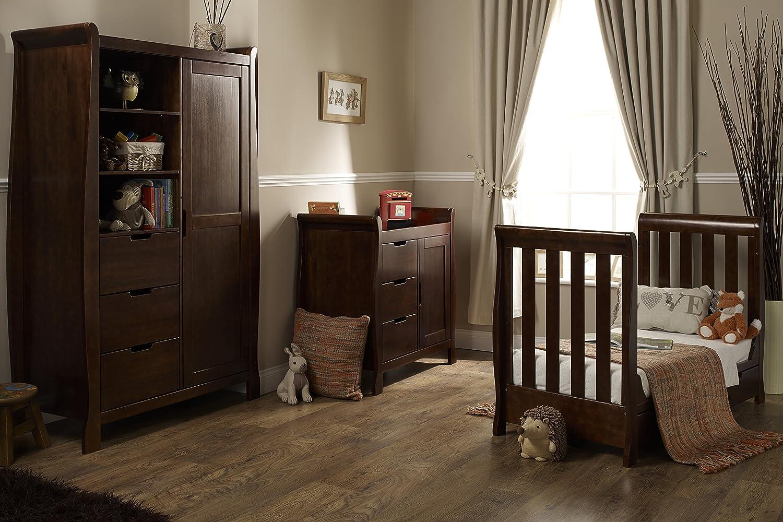 Obaby Lincoln Mini 3 Piece Nursery Furniture Set   Walnut: Amazon.co.uk:  Baby
