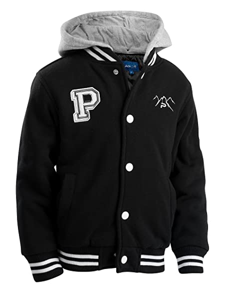 Amazon.com: Polar Club Varsity - Chaqueta de béisbol con ...