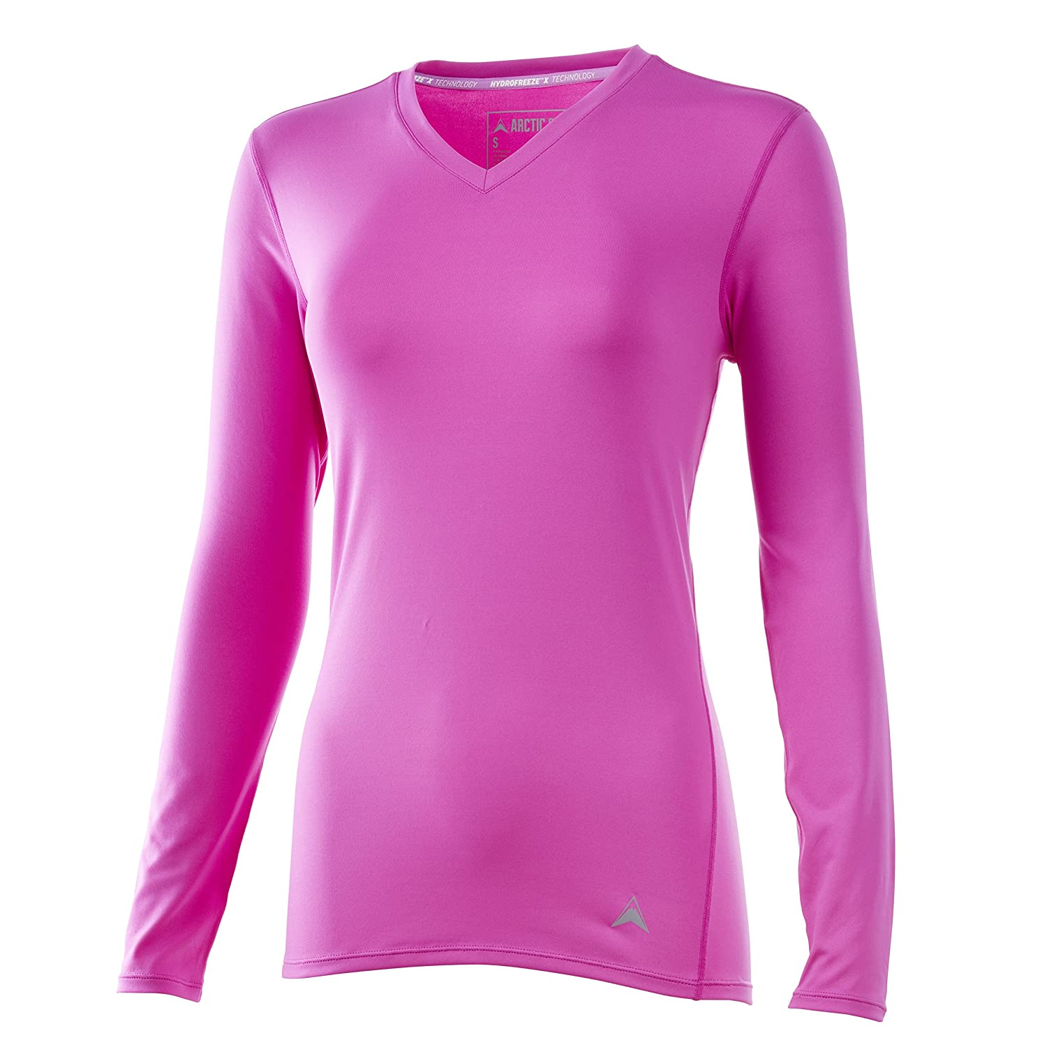 109184ab Arctic Cool Women's Long Sleeve V-Neck Instant Cooling Shirt Performance  Breathable UPF 50+ Sun Protection Moisture Wicking Comfortable Quick Drying  Long ...