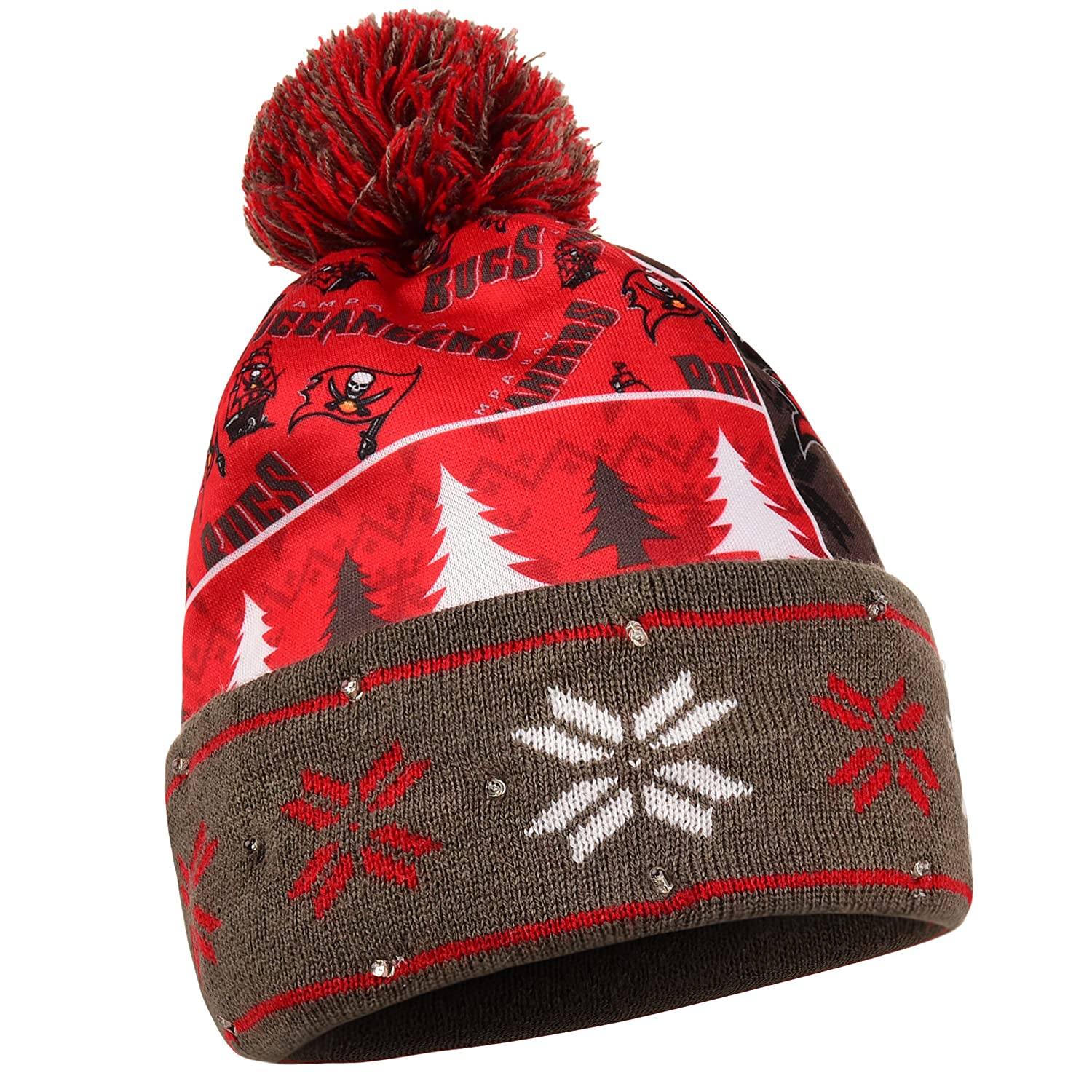 Amazon.com   Tampa Bay Buccaneers Exclusive Busy Block Printed Light Up  Beanie   Sports   Outdoors df4bf49bad7