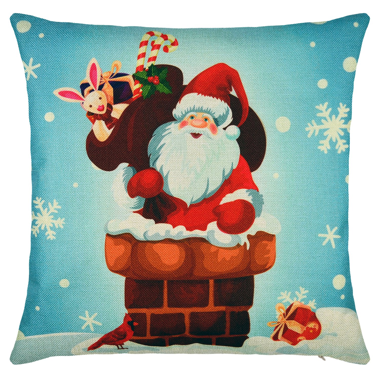 Amazon Elyhome Christmas Pillow Covers 18x18 Set of 4 Cotton