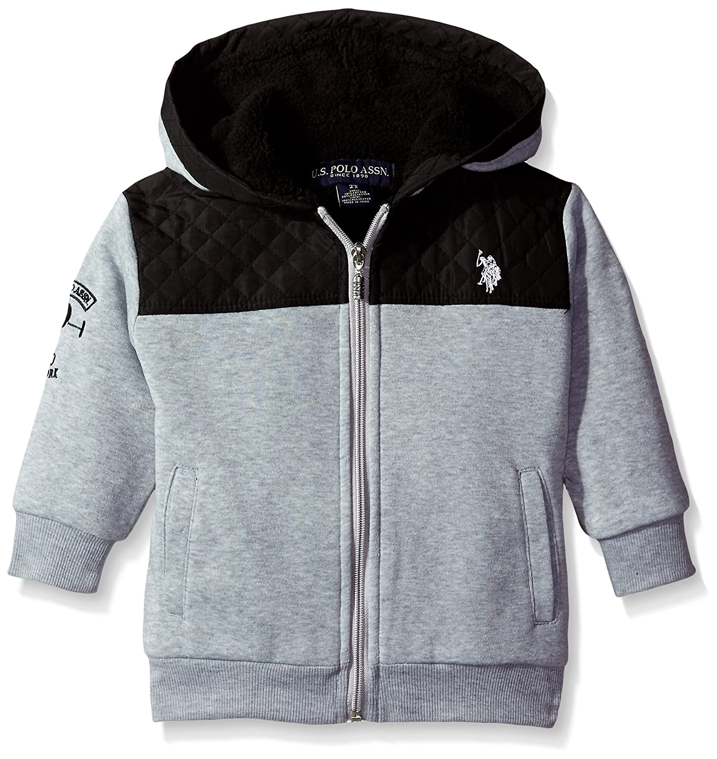 U.S. Polo Assn. Boys' Sherpa Lined Fleece Hooded Jacket US Polo Association Boys 8-20 IX00