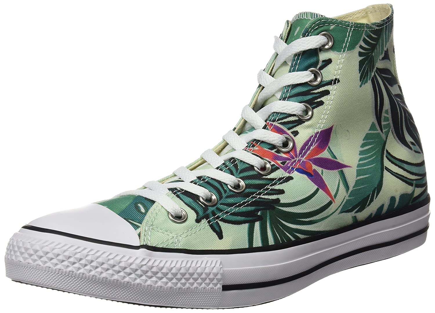 a75643d3359b Amazon.com  Converse Chuck Taylor All Star Tropical Print -  Fibreglass Menta White (Floral) Womens Trainers 5 US  Shoes