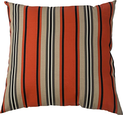 Rizzy Home TFV002 Prefilled with Knife Cut Edges Printed on Both Sides Decorative Pillow, 22 by 22-Inch, Red Pepper