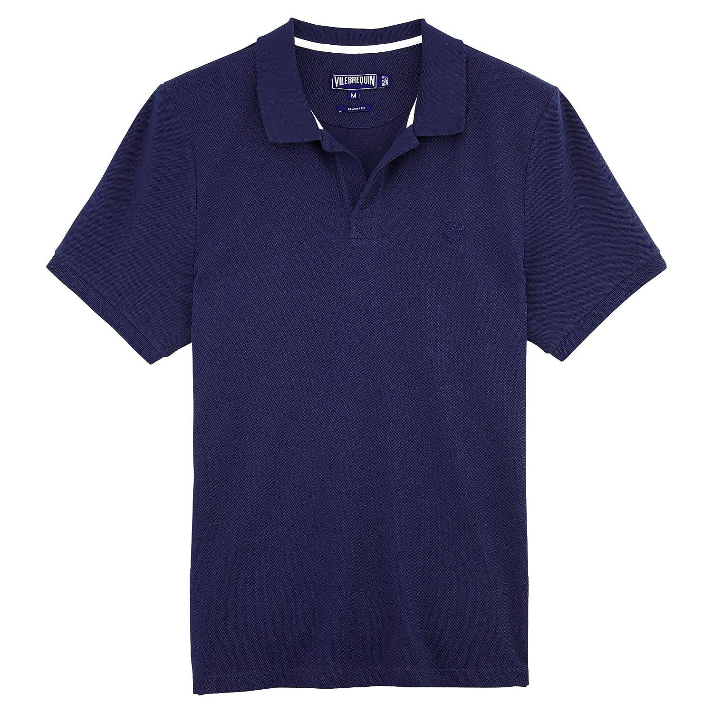 Bleu Marine XXL Vilebrequin - Polo Homme uni piqué de Coton