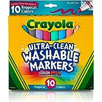 Crayola - Marcadores tropicales, Empaque estándar, Multicolor, 10 unidades