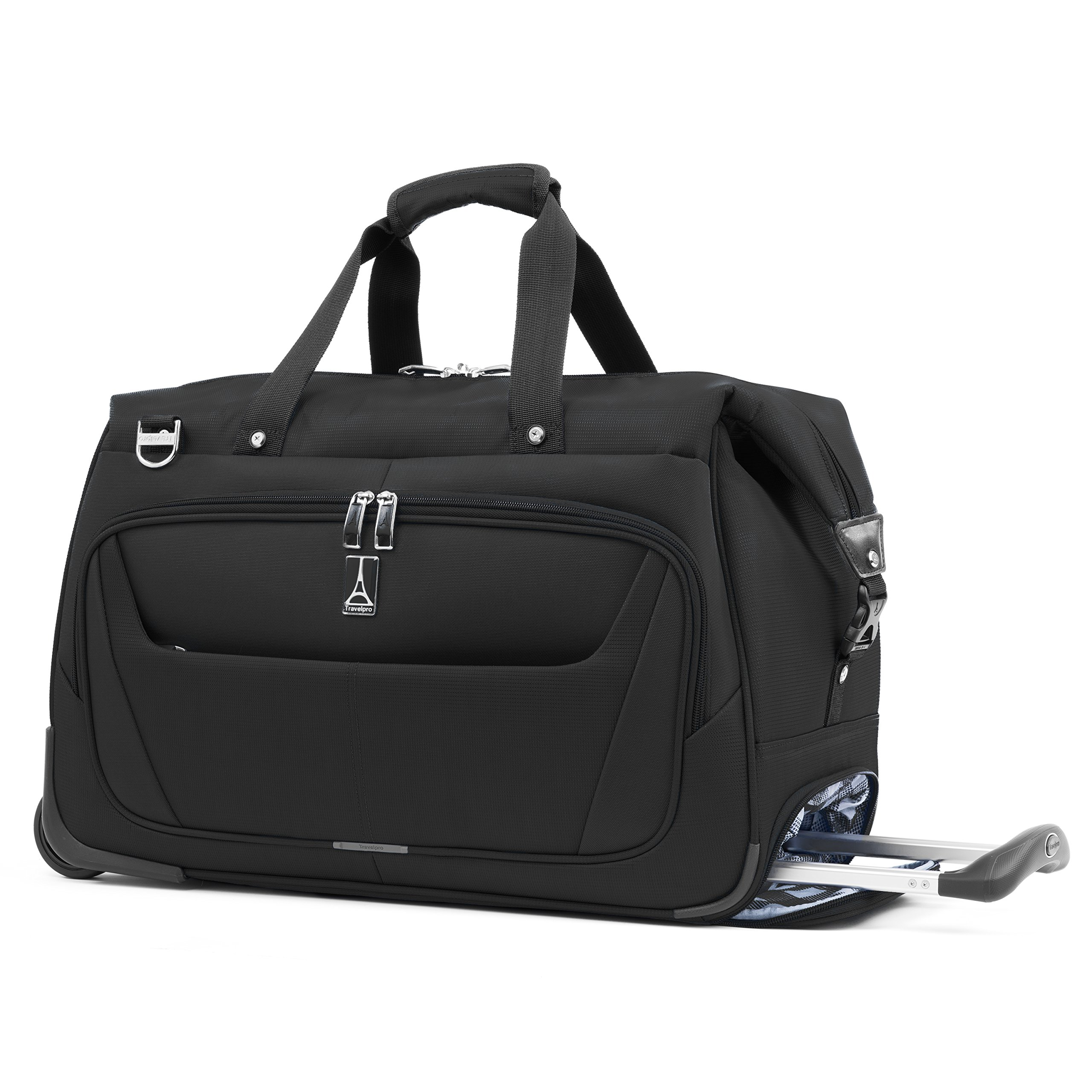 Travelpro Luggage Maxlite 5 20'' Lightweight Carry-on Rolling Duffel Suitcase, Black, One Size