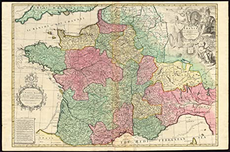 Map Of France And Luxembourg.Amazon Com Antique Map France Switzerland Belgium Luxembourg Italy