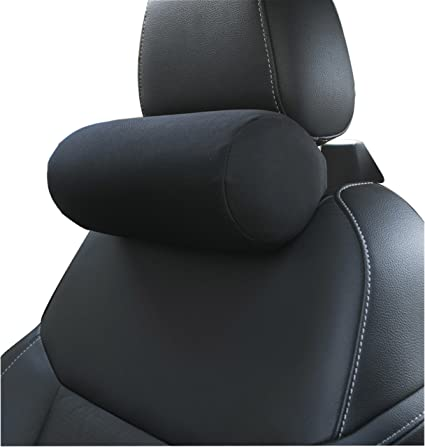 Memory Foam Car Neck Pillow With Adjustable Strap Soft Auto Cervical Round Roll Office Chair Bolster