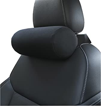 Groovy Memory Foam Car Neck Pillow With Adjustable Strap Soft Auto Cervical Round Roll Office Chair Bolster Headrest Supports Cushion Pad Black 1 Piece Creativecarmelina Interior Chair Design Creativecarmelinacom