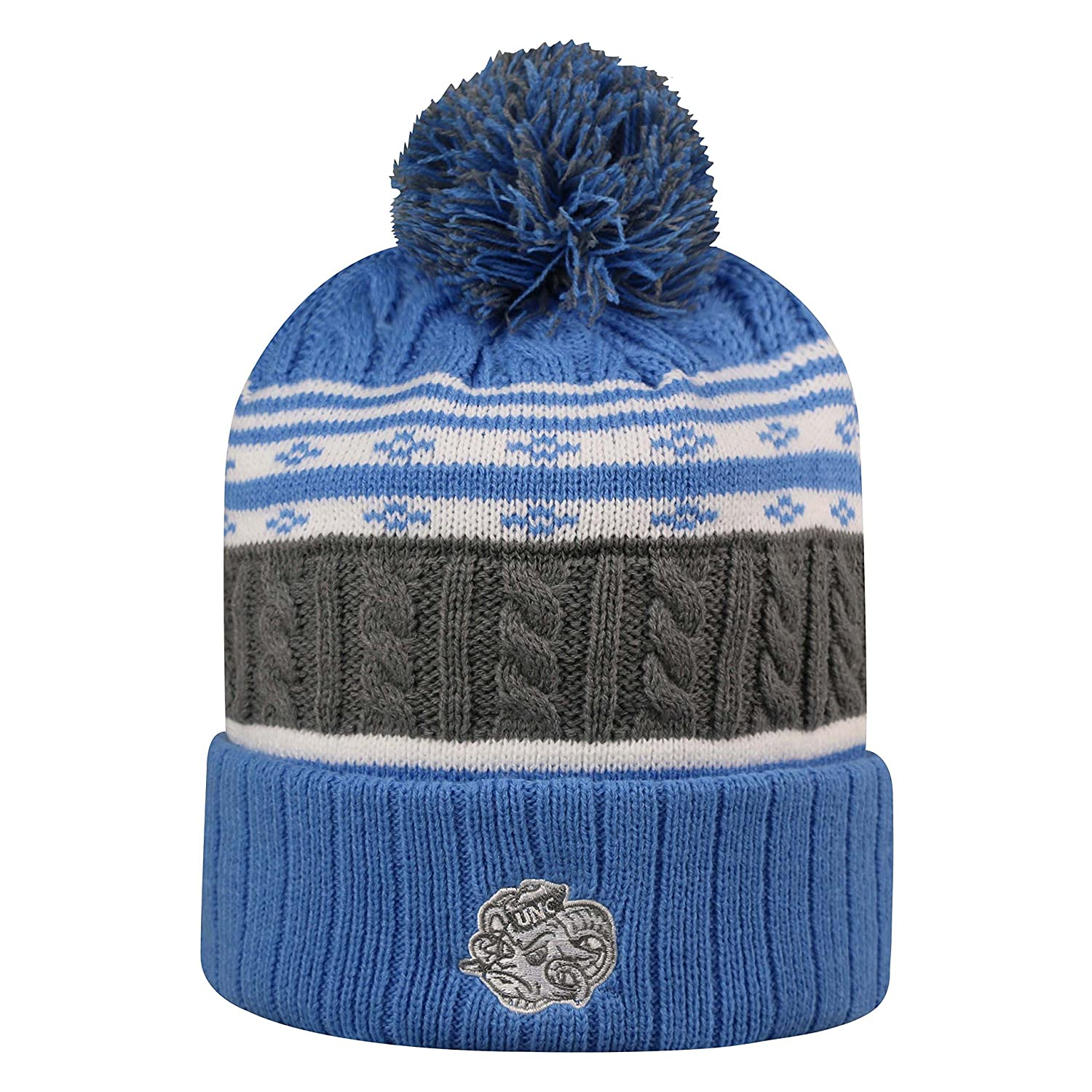 Top of the World North Carolina Tar Heels Official NCAA Cuffed Knit Altitude Beanie Stocking Stretch Sock Hat Cap 811536