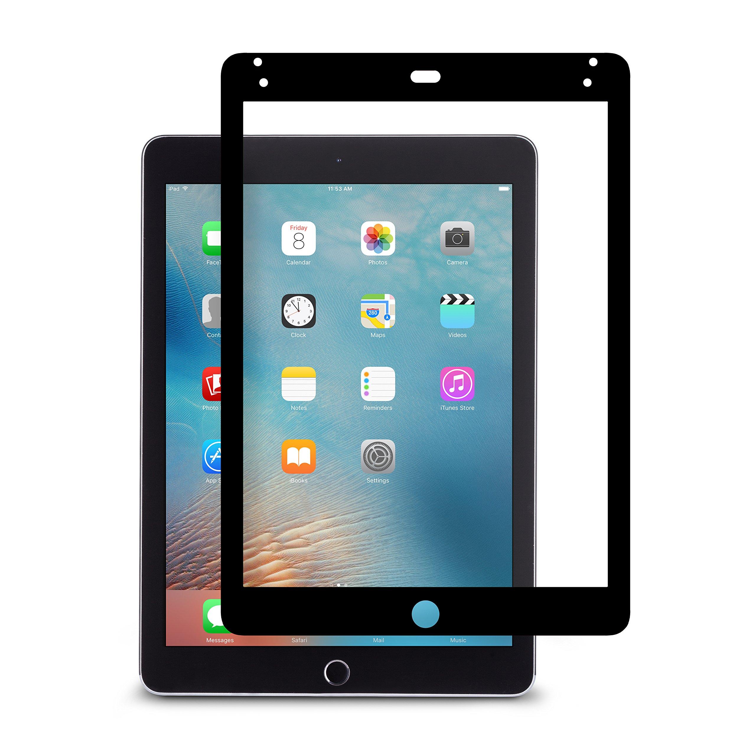 Moshi 99MO020016 iVisor AG for New iPad 9.7'', iPad Pro 9.7'', 2018, 2017 Anti-Glare Screen Protector, Black