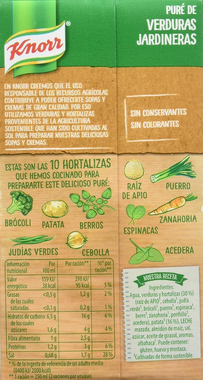 Knorr Rusticas Puré de Verduras Jardineras - 500 ml: Amazon.es: Alimentación y bebidas