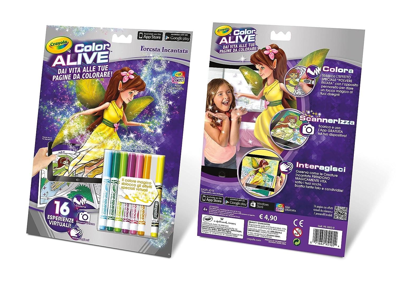 Crayola - Color Alive: Castillos y Dragones, libro para colorear (95 ...