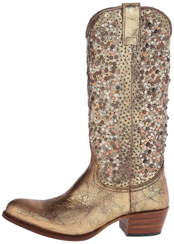 FRYE Women's Deborah Studded Tall Western US|Gold-77860 Boot B00IM5IES0 9 B(M) US|Gold-77860 Western 1a2aed