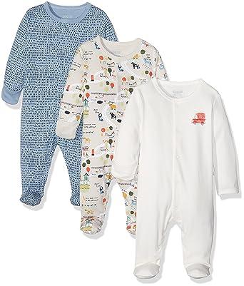 94624351f Mamas Papas Baby Boys  3Pk Town Sleepsuits