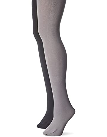 69b58bfbcca5e Muk Luks Women's Fleece Lined 2-Pair Pack Tights at Amazon Women's Clothing  store: