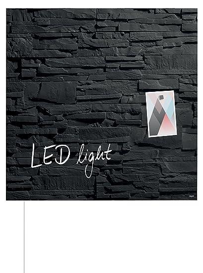 noir 130 x 55 cm SIGEL GL240 Tableau magn/étique en verre Artverum