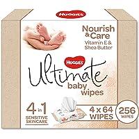 Huggies Ultimate Nourish & Care Baby Wipes 256 Wipes 4x64pk