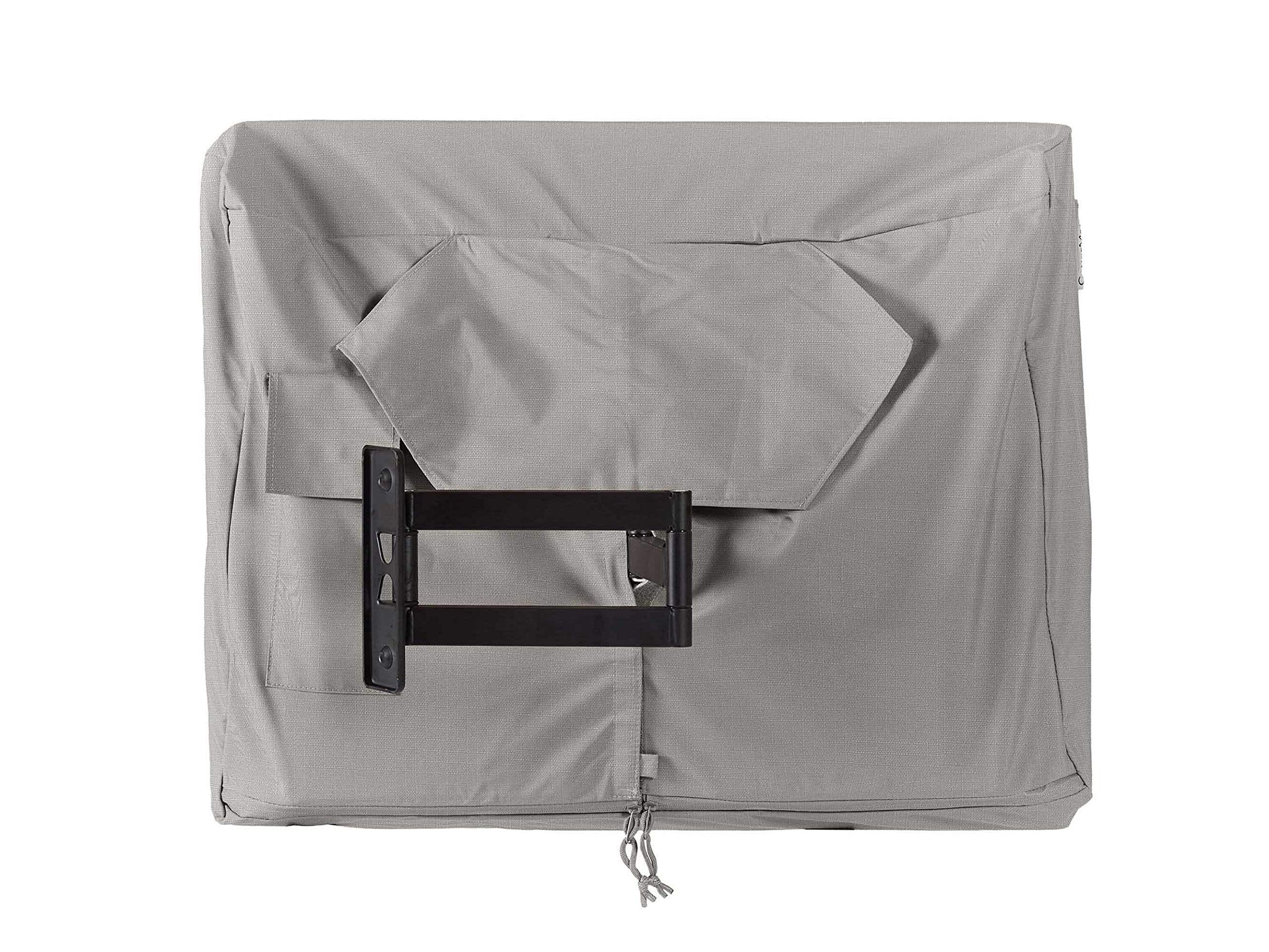 Covermates - Outdoor TV Cover - Fits 60 to 64 Inch TV's - Ultima - 600 Denier Fade Resistant Polyester - Full Coverage - Interior Fleece Lining - 7 YR Warranty - Water Resistant - Ripstop Grey by Covermates