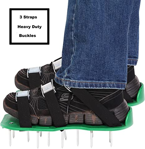 3 Straps with Metal Buckle For Aerating Lawn Soil Lawn Aerator Spike Shoes