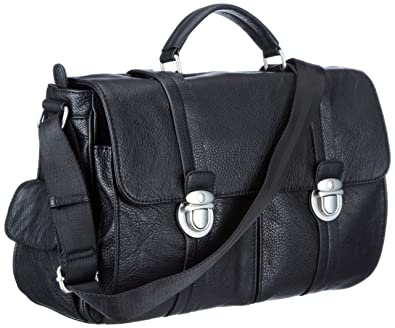 3276874208ae Mexx 12kam052 Office Bag Laptop Bag Mens Black Schwarz (Black 1) Size:  41x30x14