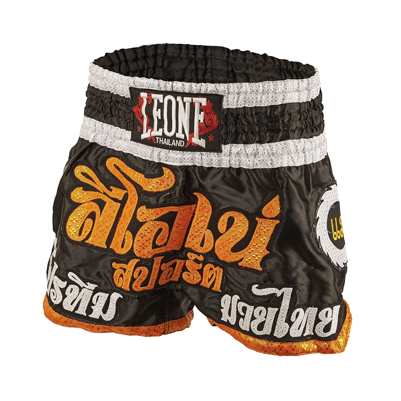 LEONE 1947 AB755 Pantalones cortos de Kick-thai, Unisex – Adulto, Negro, L Unisex - Adulto