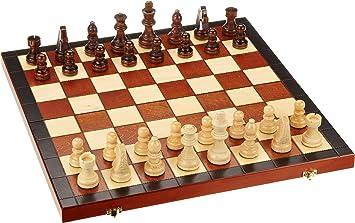 Philos 2605 Fischer - Caja con ajedrez (escaques de 40 mm, Altura ...