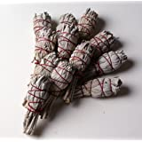 Big pack: 12 x WHITE SAGE Smudge Stick 4'' (20gr.) Incense fresh from California