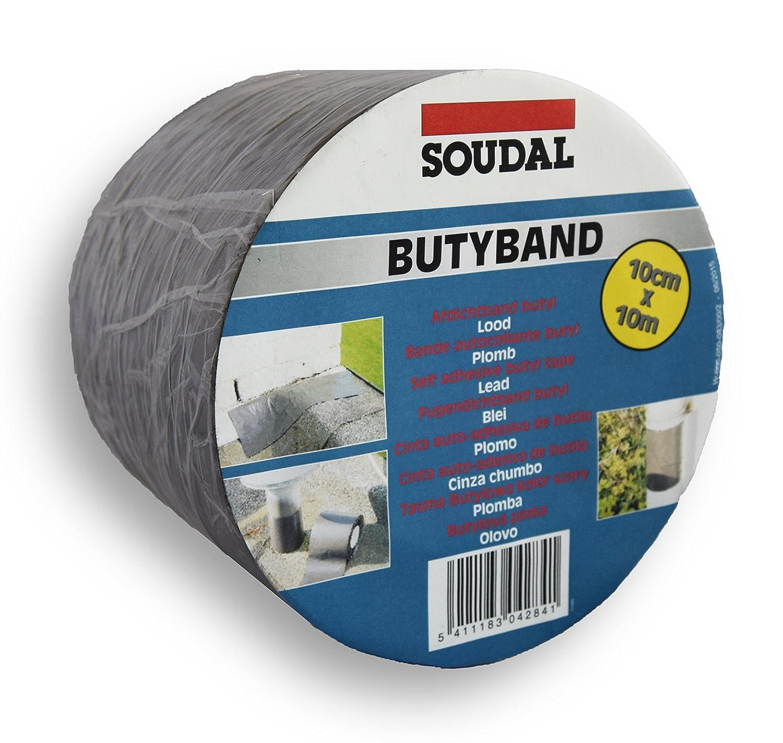 Soudal Butyband - Nastro autoadesivo in alluminio rinforzato, 10 m x 100 mm