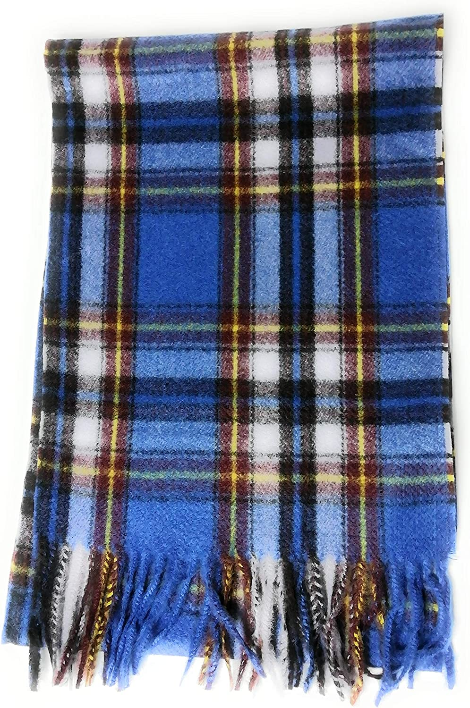 KGM Accessories Super Soft Italian Designer Scottish Tartan Plaid Scarf Tartan Scarves for Men Women