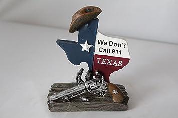 Amazon texas map pistol horseshoe we dont call 911 business texas map pistol horseshoe we dont call 911 business cards holder home colourmoves